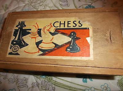 K & C Wooden Chess Set { French }