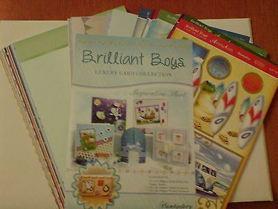 Hunkydory Adorable Scorable Brilliant Boys Luxury Card Kit A4 x 40 Sheets new