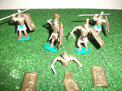 Timpo Romans 4 figures complete and spares 1/32