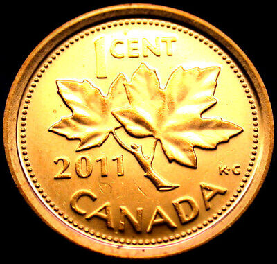 1-2011 Canadian Penny Fresh out Of Roll, 1 Coin.