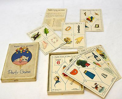Vintage England Towns and Cities Card Game - 1378