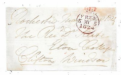 1824 Free Front Rochester To Windsor Signed Lord Clifton M.p. For Canterbury