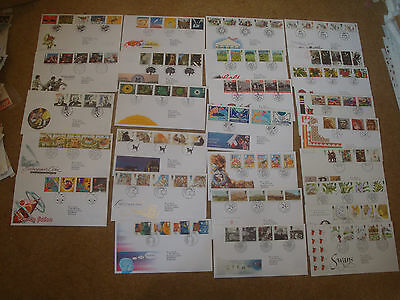 Excellent Collection GB FDCs for 1993-95 - all spec HS (27) - rf134
