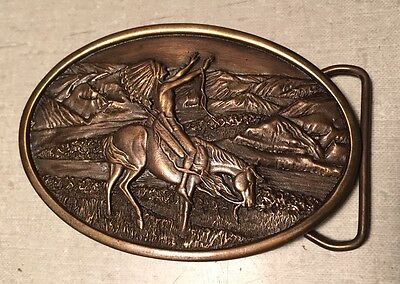 Vintage Chief Joseph Belt Buckle -Native American 1977 Collector Piece w Box