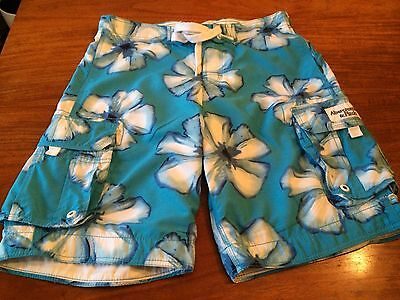 Mens Blue Floral Abercrombie and fitch new Shorts Size M