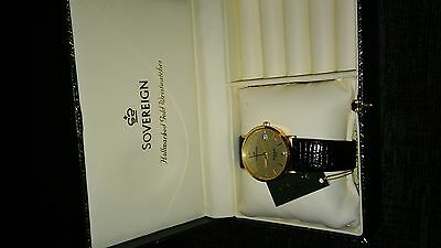 New 9ct Solid Gold Sovereign Ladies Watch