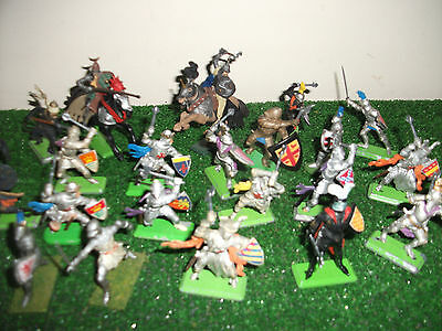 Britains Detail Medieval Knights & Turks mounted and on foot