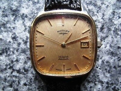 Swiss Rotary 25 jewel Automatic date Vintage watch