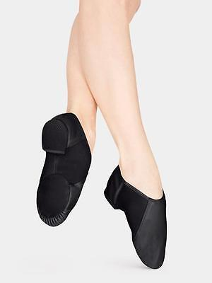 Jazz Shoes Slip On Size 12-1 KIDS CHILD Black Leather Class Practice Competition