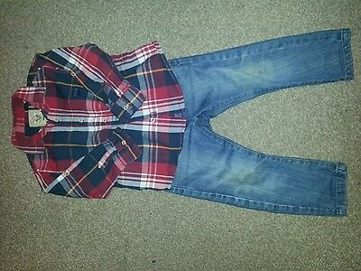 Boys Next jeans and top 2-3 years