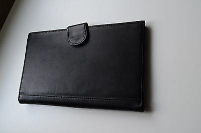 Men's Etihad Airways black leather travel wallet & card holder organiser