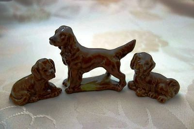 Wade 3 Red Setters Dog Figurines 1973-82