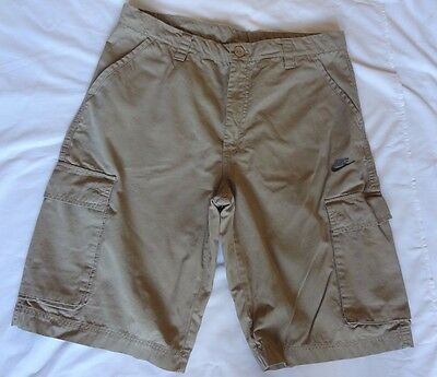 NIKE Cargo Men's Beige Shorts Zip Fly Waist 34 in.