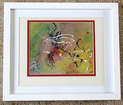 """""""THE CHALLENGE"""" - Abstract- Expressionist painting - in a modern frame."""