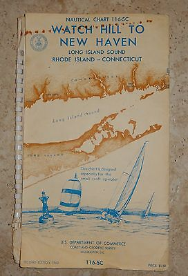 1963 Nautical Chart 116-SC *  Map Long Island Sound Rhode Island - Connecticut
