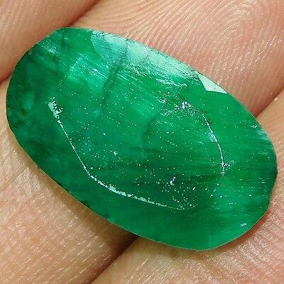 14.05Cts NATURAL AWESOME BERYL BIXBITE EMERALD OVAL 21X13 CUT GEMSTONE PK251