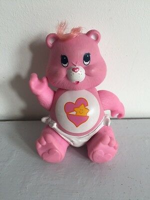 Vintage Care Bear Pink Heart BABY HUGS Plastic Posable Figure 1980's 1984 Kenner