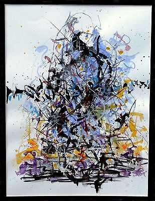 """""""THE WASTE LAND"""" - Abstract-Expressionist painting by modern British artist"""