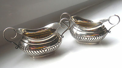 Pretty Pair Antique Silver Plated Trophy Form Salts- Truman Burrows
