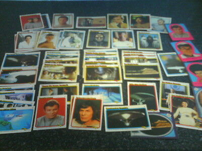 STAR TREK - The Motion Picture - 46 x Topps 1979 Trading Cards & 5 Stickers.