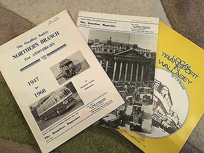 Various Omnibus Society Publications from 1960's