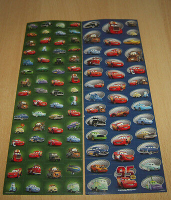 2 Disney Cars Sticker Bögen Ca 98 Aufkleber Sticker Bogen