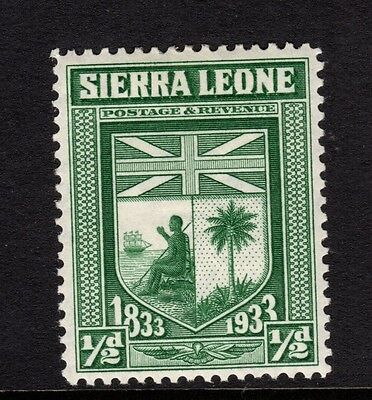 Sierra Leone Abolition of Slavery 1/2d - SG168 - very lightly mounted mint