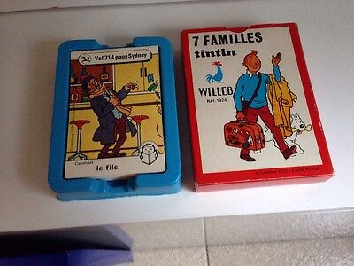 Jeu Carte 7 Familles Tintin 1977 Willeb Complet Collection