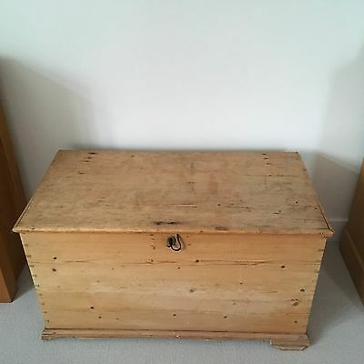 Old Wooden Bedding Chest