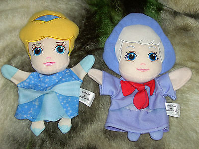 Disney Fairy Godmother and Cinderella Plush Hand Puppet Made By Hallmark