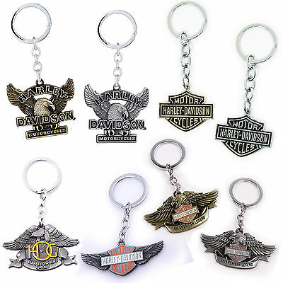 Harley-Davidson motorcycle metal keyring - Collectable motorbike keychain - New