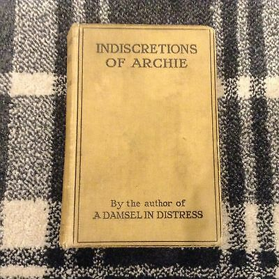PG WODEHOUSE INDISCRETIONS OF ARCHIE 1st Edition Popular Herbert Jenkins