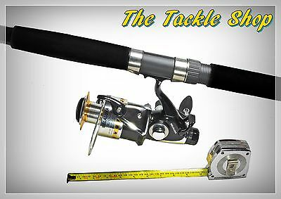 14ft 12kg GRAPHITE BEACH BAITFEED COMBO - IX7000 10BB REEL+ 3PCE OCTANE ROD