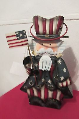 Home Interiors Metal Decorative Uncle Sam Candle Lantern New With Tags