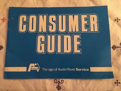 Austin Rover Consumer Guide Booklet.