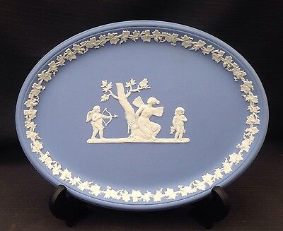 Wedgwood Blue Jasperware - Oval Tray - Great Condition