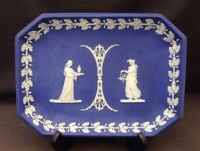 Wedgwood Navy Jasperware - Rectangular Tray - Great Condition