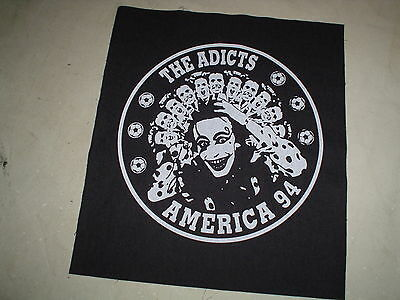 Adicts Back Patch Cockney Rejects Buzzcocks Toy Dolls The Clash Punk Diy