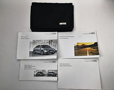 2011 Audi A4 Owner's Manual with Case