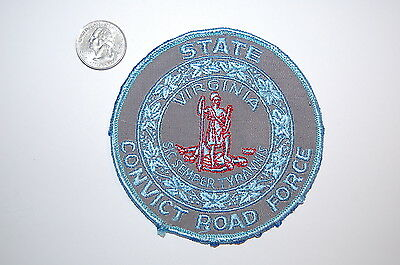 Vintage Rare Virginia State Convict Road Force Patch