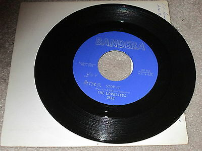 The Lovelites - I Found A Lover / Stop It - Bandera Label