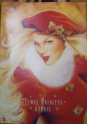 1996 Jewel Princess Barbie Winter Princess Collection With Box Never Removed