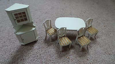 Lundby dolls house furniture - dining room set