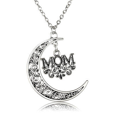 Hot Moon Hollow Party Dress Mom Charm Vintage Necklace Pendant Gift Women Chain