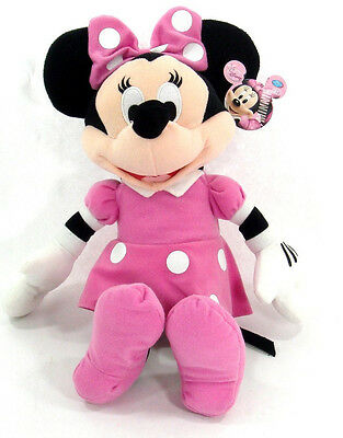 """Licensed DISNEY  Clubhouse MINNIE MOUSE Soft PLUSH DOLL Toy 15"""" PINK GreatGift"""