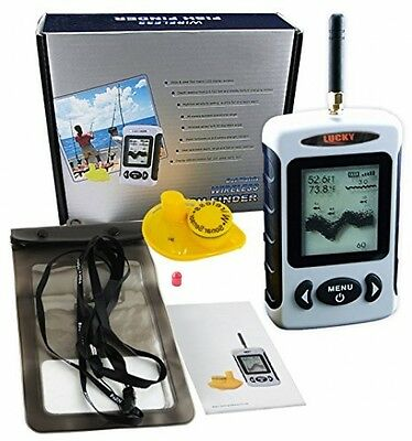 Lucky Digital FFW-718 Wireless Fish Finder Sonar Radio Sea Bed Contour Live Bag