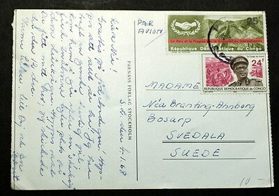 Congo 1968 post card to Sweden    #046