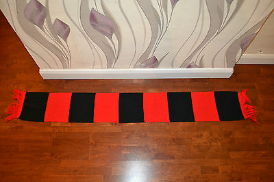 Red & Black Manchester United colors Football Vintage Scarf Soccer Bufanda