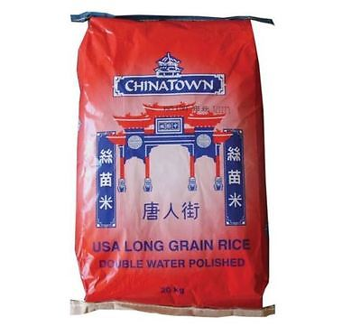 Long Grain Rice 20kg Chinatown USA FREE DELIVERY