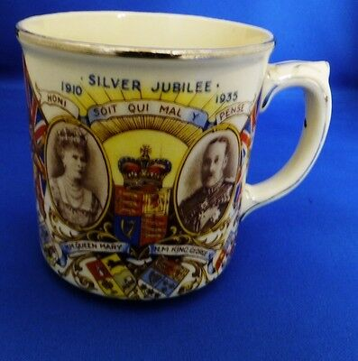 Silver Jubilee Commemorative Mug George V & Mary 1935:Sheppard & Son Wimborne #1